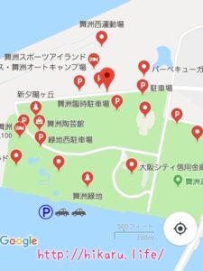 サマソニ大阪2018会場から近隣の駐車場