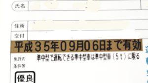 平成最後の免許証更新